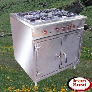 خورشت پز چهار شعله فر دار
