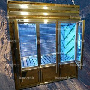 یخچال ایستاده 6 درب استیل طلایی