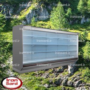 یخچال بدون درب پرده هوا کمپرسور مرکزی