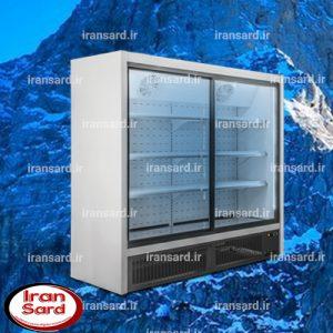 یخچال ایستاده ویترینی درب کشویی پرتابل