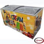 یخچال صندوقی بستنی 500 لیتری درب شیشه ای