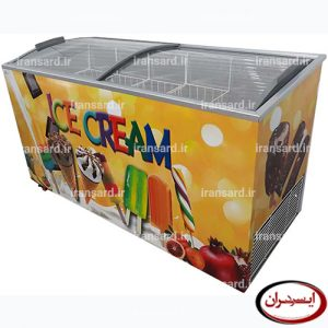 یخچال صندوقی بستنی ۵۰۰ لیتری درب شیشه ای