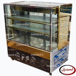 یخچال ویترینی بستنی فروشی استیل طلایی